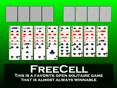 Freecell - the Popular Solitaire Card Game